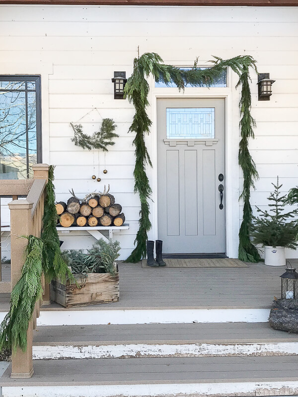 Beautiful Christmas Porch Ideas - Scandinavian Christmas Porch by Twelve on Main