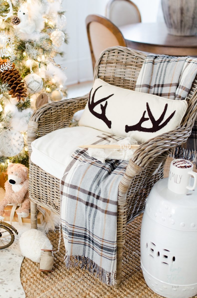 Beautiful and Easy Christmas Decor Ideas - Add Seasonal Throws by Home Stories A to Z