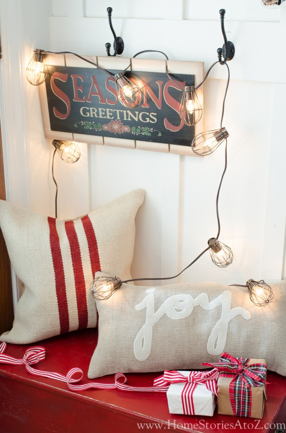 Beautiful and Easy Christmas Decor Ideas - Add Twinkle Lights by Home Stories A to Z