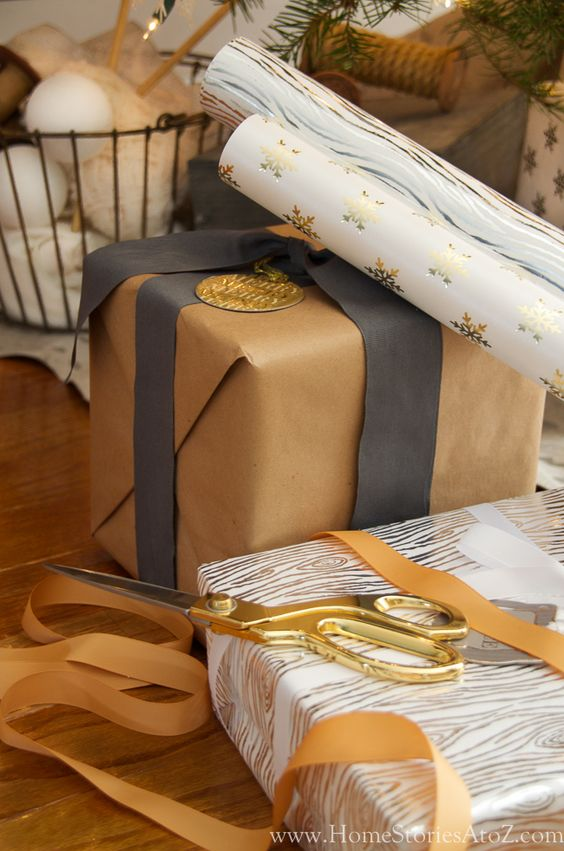 Beautiful and Easy Christmas Decor Ideas - Gift Wrapping Ideas by Home Stories A to Z