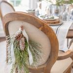 Beautiful and Easy Christmas Decor Ideas - Hang a swag on your chairs - Home Stories A to Z