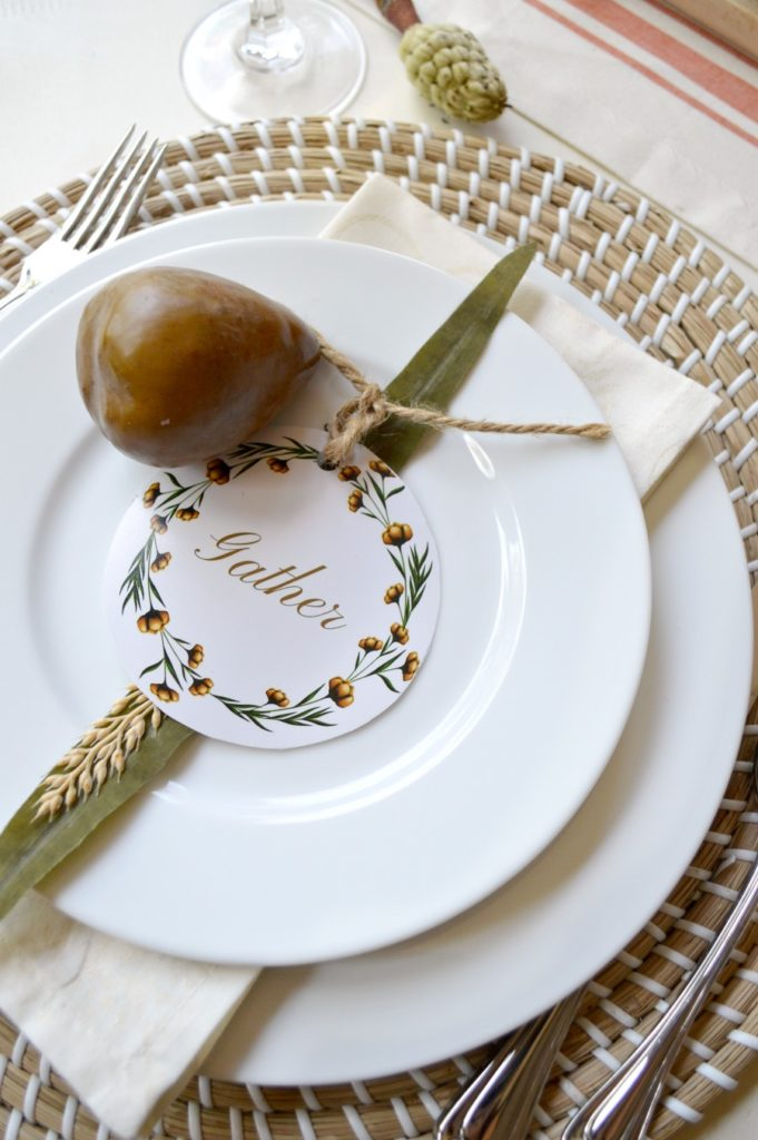 Thanksgiving Place Setting Ideas - Fall Printable for your Table by My Uncommon Slice of Surburbia