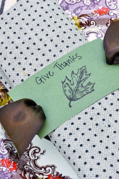 Thanksgiving Place Setting Ideas - Fall Stamped Napkin Ring by Country Living