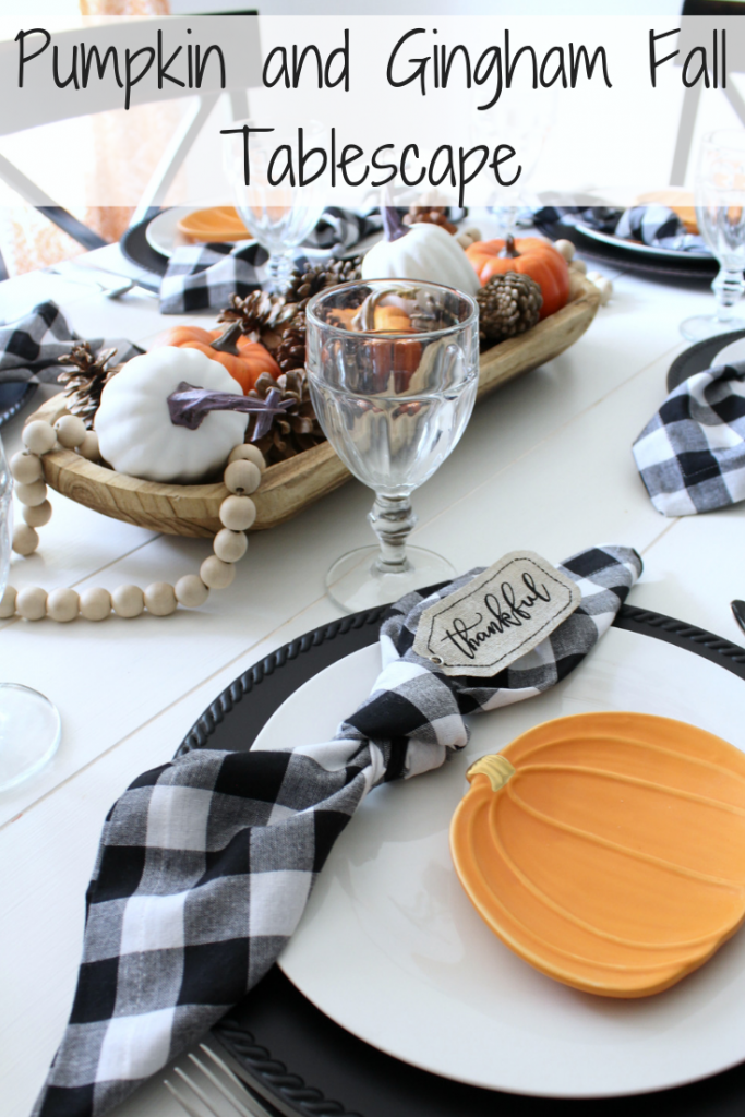 Thanksgiving Place Setting Ideas - Gingham by Frazzled Joy