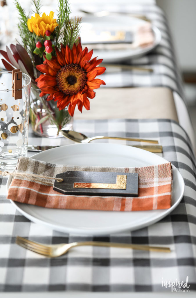 Thanksgiving Place Setting Ideas - Monogram Place Setting by Inspired by Charm