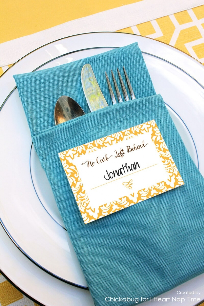 Thanksgiving Place Setting Ideas - Thanksgiving Place Cards by I Heart Naptime