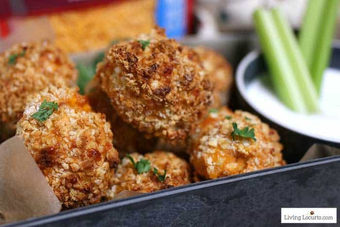 100+ Appetizer Ideas - Air Fryer Recipes - Air Fryer Buffalo Chicken Cheese Balls by Living Locurto