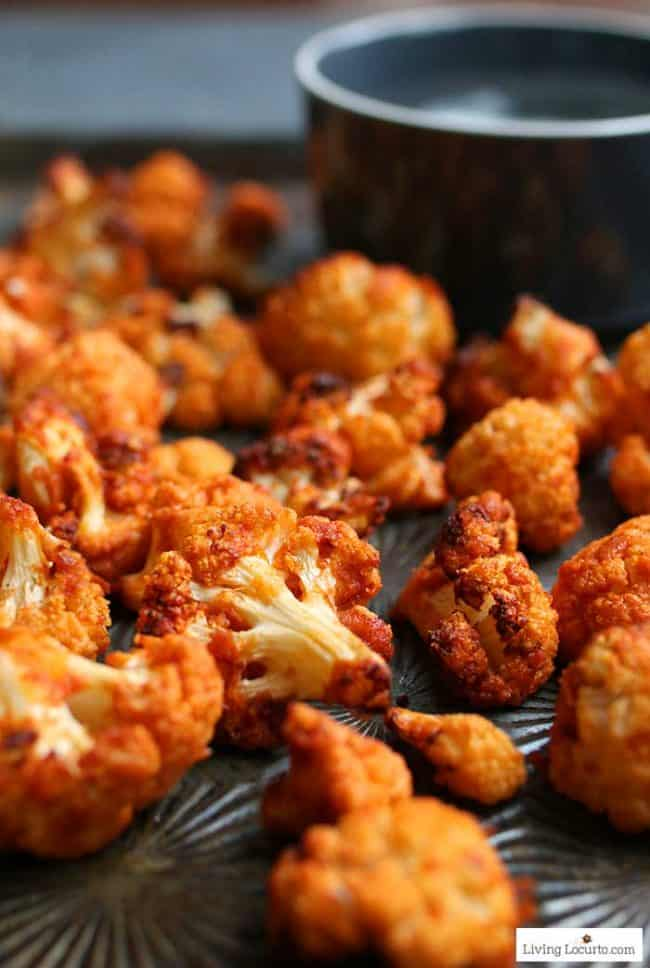 100+ Appetizer Ideas - Air Fryer Recipes - Air Fryer Buffalo Roasted Cauliflower by Living Locurto