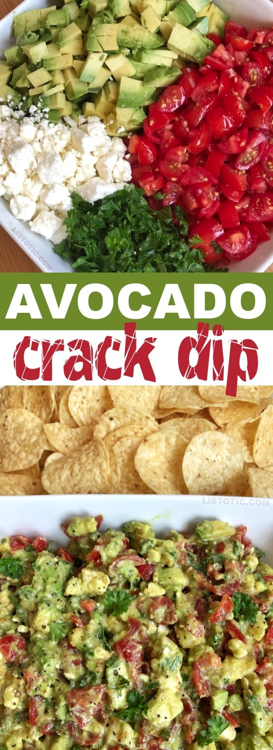 100+ Appetizer Ideas - Avocado Crack Dip by Listotic