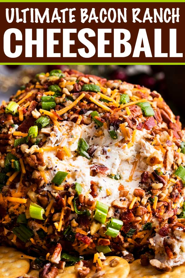 100+ Appetizer Ideas - Bacon Ranch Cheese Pecan Ball by The Chunky Chef