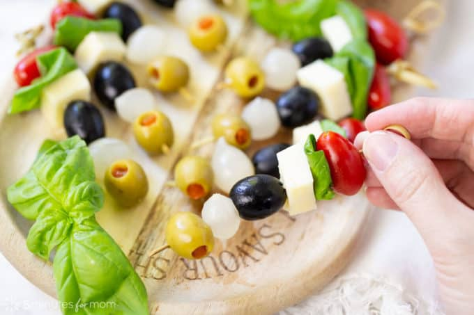 100 Appetizer Ideas - Caprese Salad Tapas by 5 Minutes for Mom