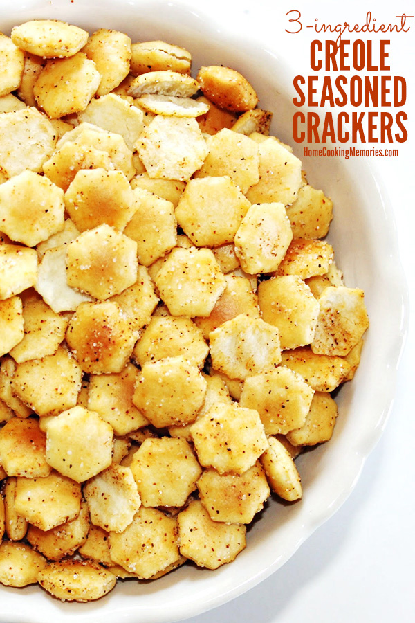 100+ Appetizer Ideas - Creole Seasoned Crackers by Home Cooking Memories