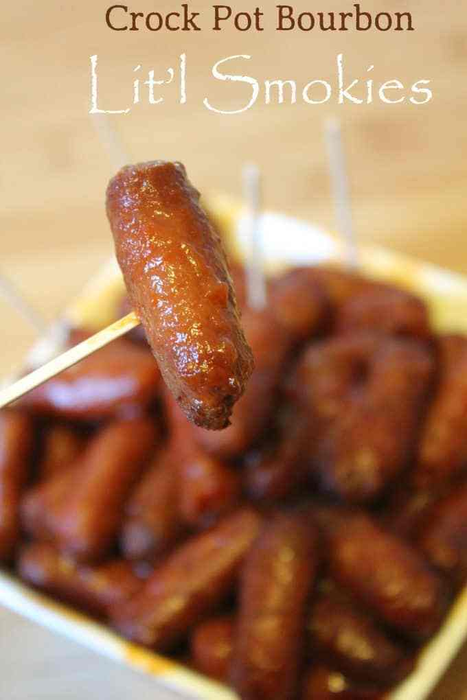 100+ Appetizer Ideas - Crock Pot Bourbon Lil Smokies by Tammilee Tips