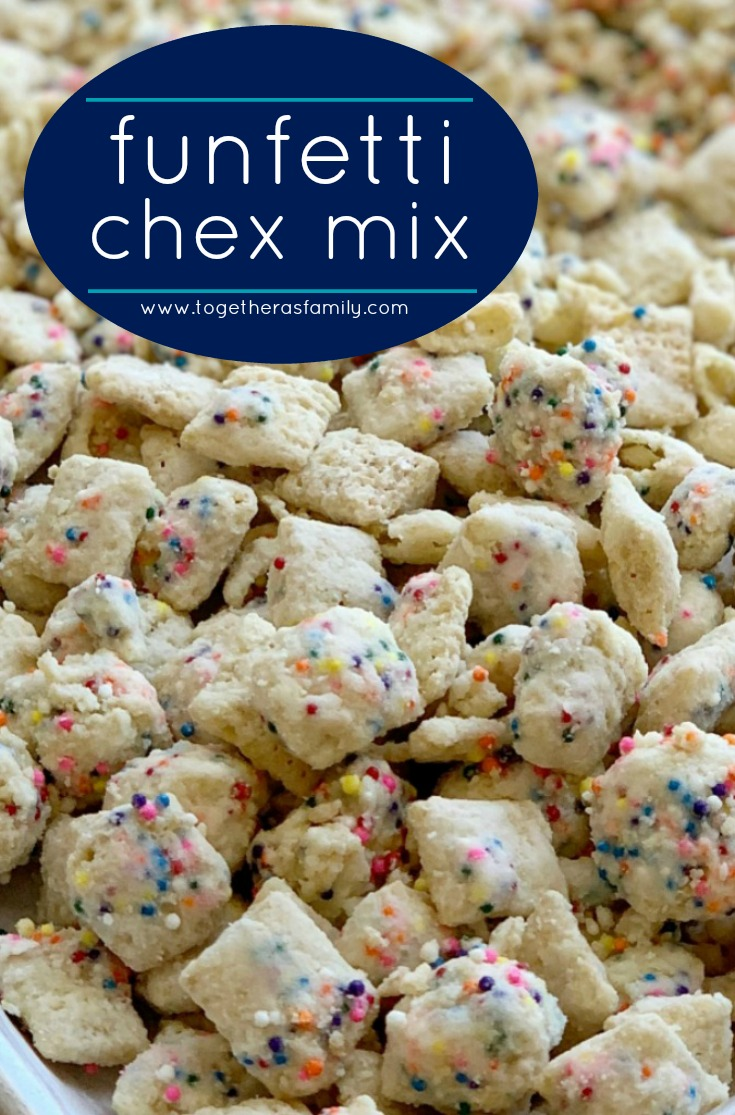 100+ Appetizer Ideas - Funfetti Chex Mix by Together as Family