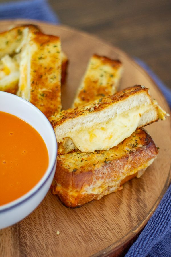 100+ Appetizer Ideas - Giant Grilled Cheese Appetizer by The Kittchen