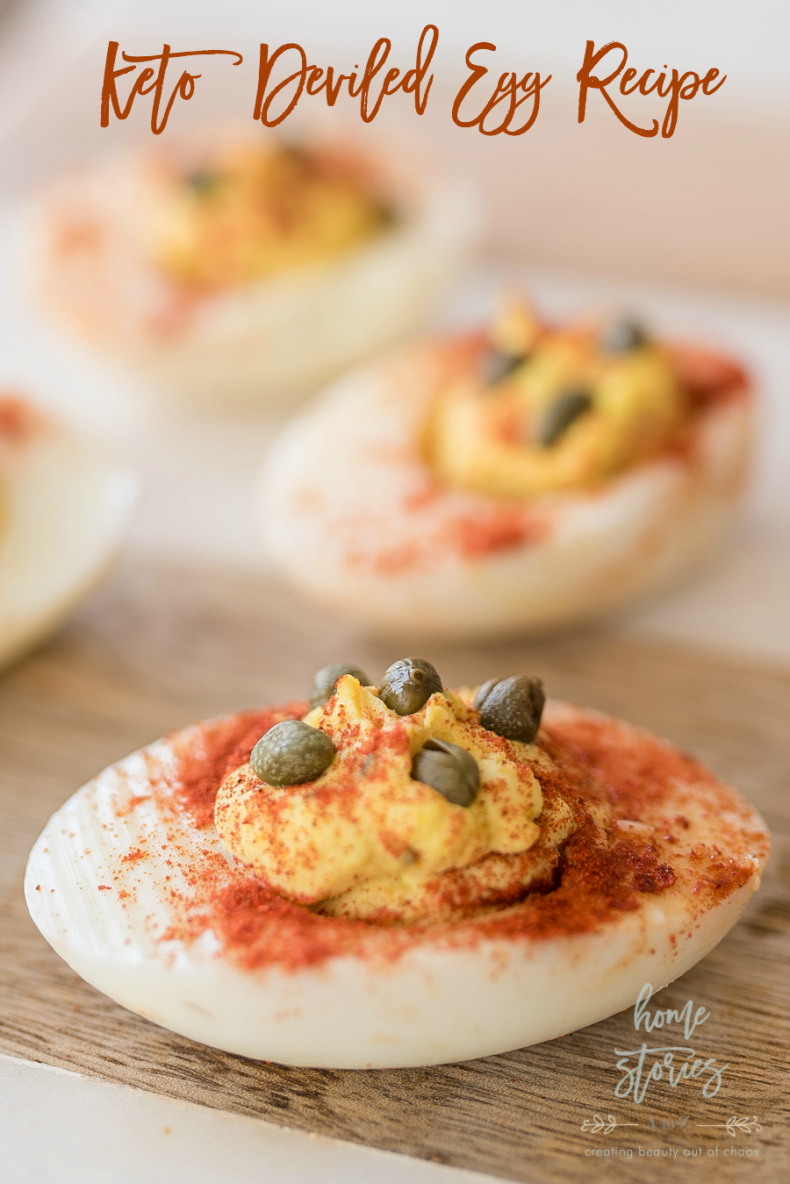 100+ Appetizer Ideas - Keto Deviled Egg Recipe with Capers by Home Stories A to Z