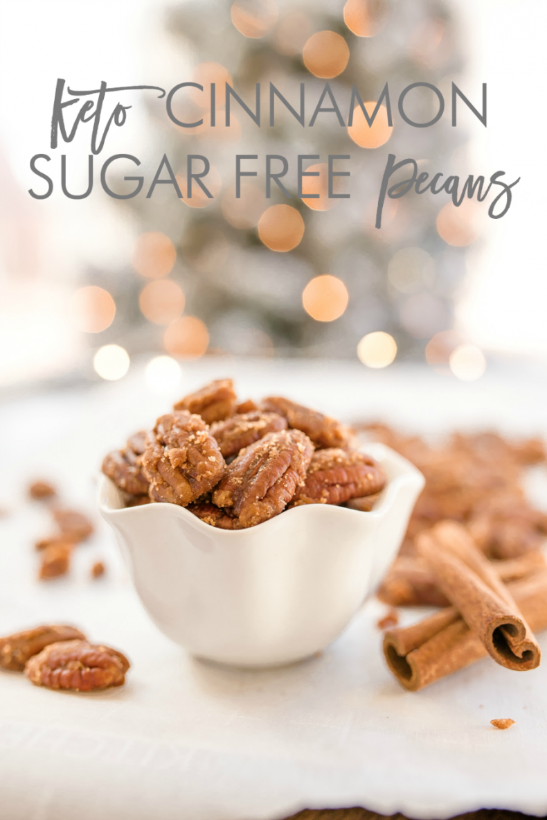 100+ Appetizer Ideas - Keto Sugar Free Cinnamon Pecans by Home Stories A to Z