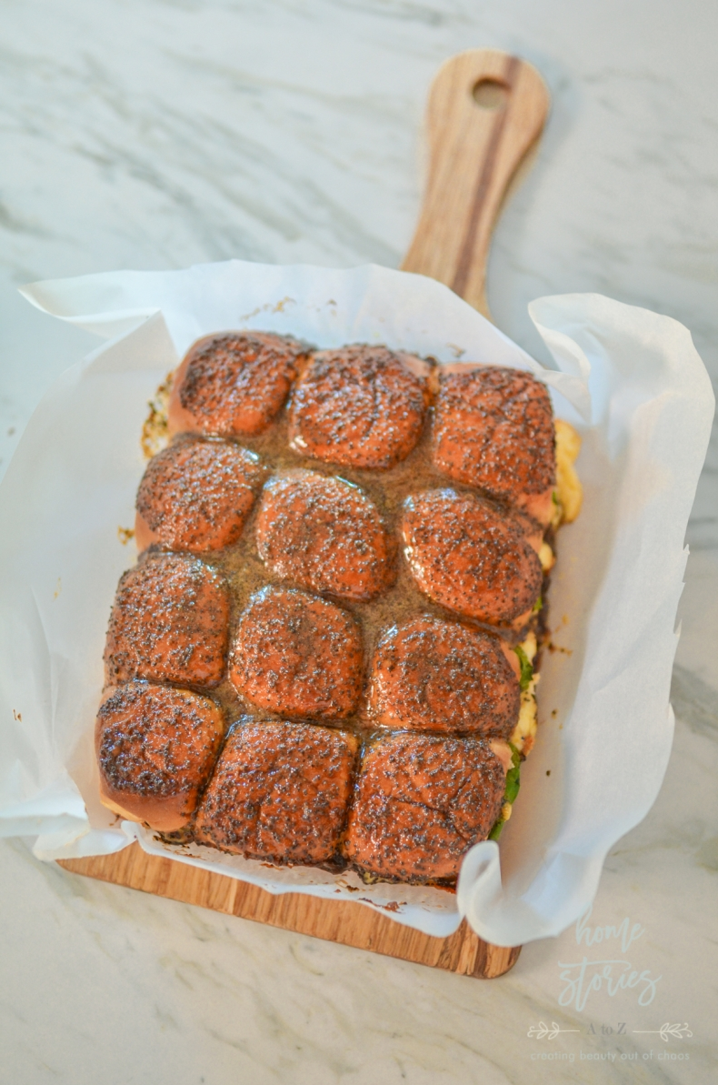 100+ Appetizer Ideas - Salami and Gouda Baked Sliders by Home Stories A to Z