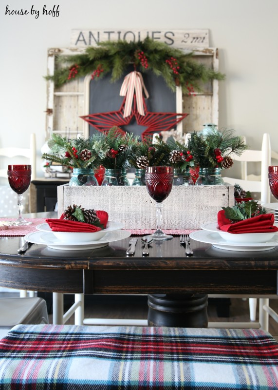 Christmas Centerpiece Ideas - Country Living Home Tour by House by Hoff