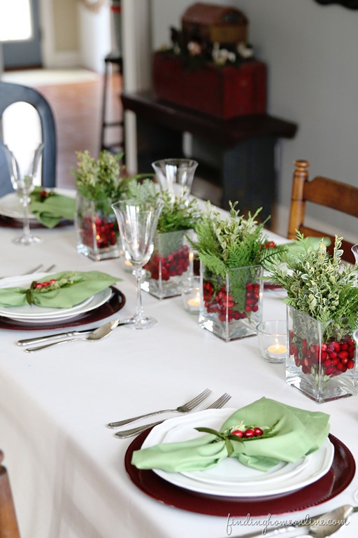 Christmas Centerpiece Ideas - Simple Christmas Table Ideas by Finding Home Farms