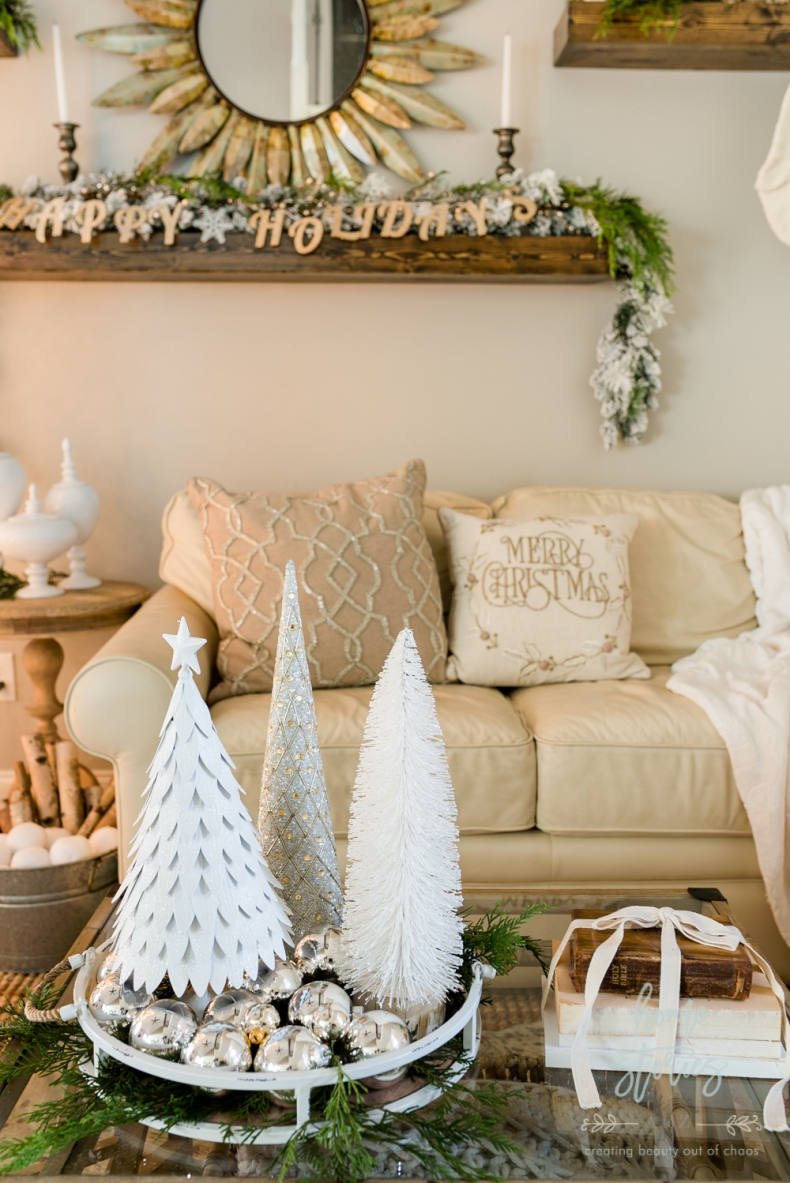 Christmas Vignette Ideas - Christmas Coffee Table Vignette by Home Stories A to Z