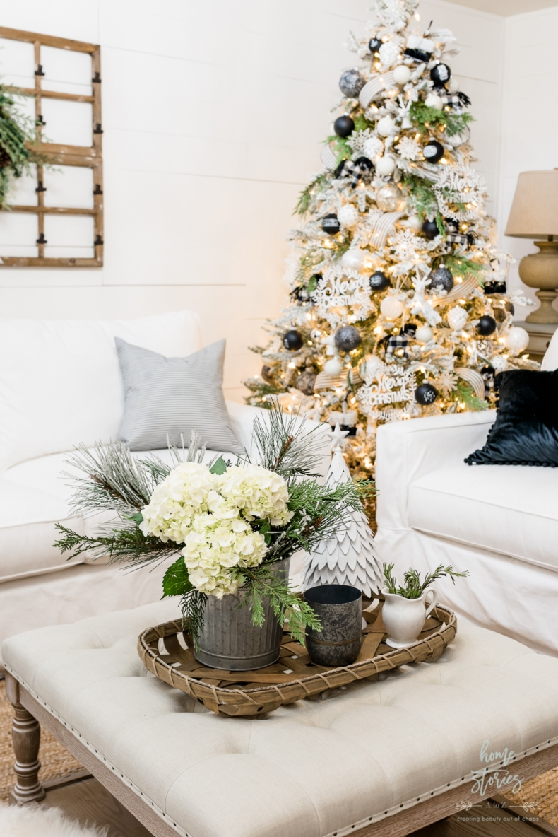 Christmas Vignette Ideas - Christmas Table Tray Ideas by Home Stories A to Z
