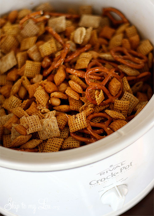 Crock Pot Chex Mix by Skip to My Lou