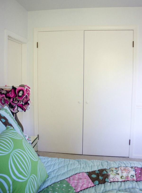 Flat Panel Door Makeover Ideas - Closet Door Makeover by Driven By Decor