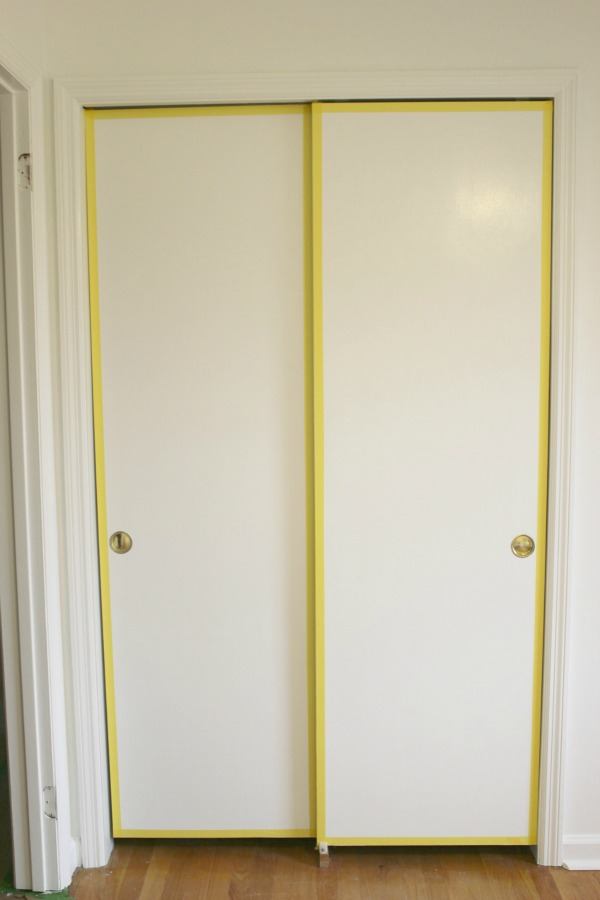 Flat Panel Door Makeover Ideas - DIY Painted and Patterned Doors by Rain on a Tin Roof