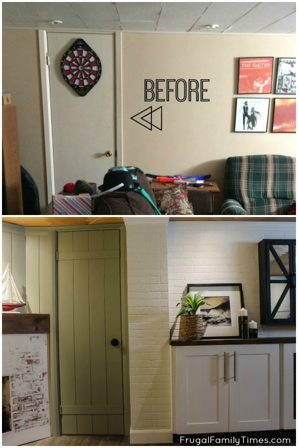 Flat Panel Door Makeover Ideas - Hollow Core Door Makeover by Frugal Family Times