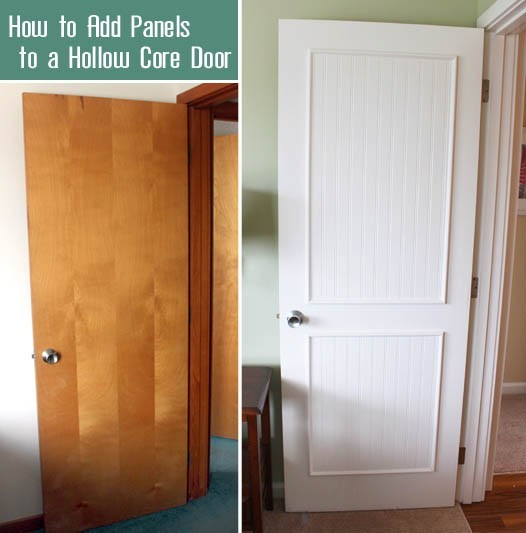 Flat Panel Door Makeover Ideas - How to Add Panels to a Hollow Core Door by Pretty Handy Girl