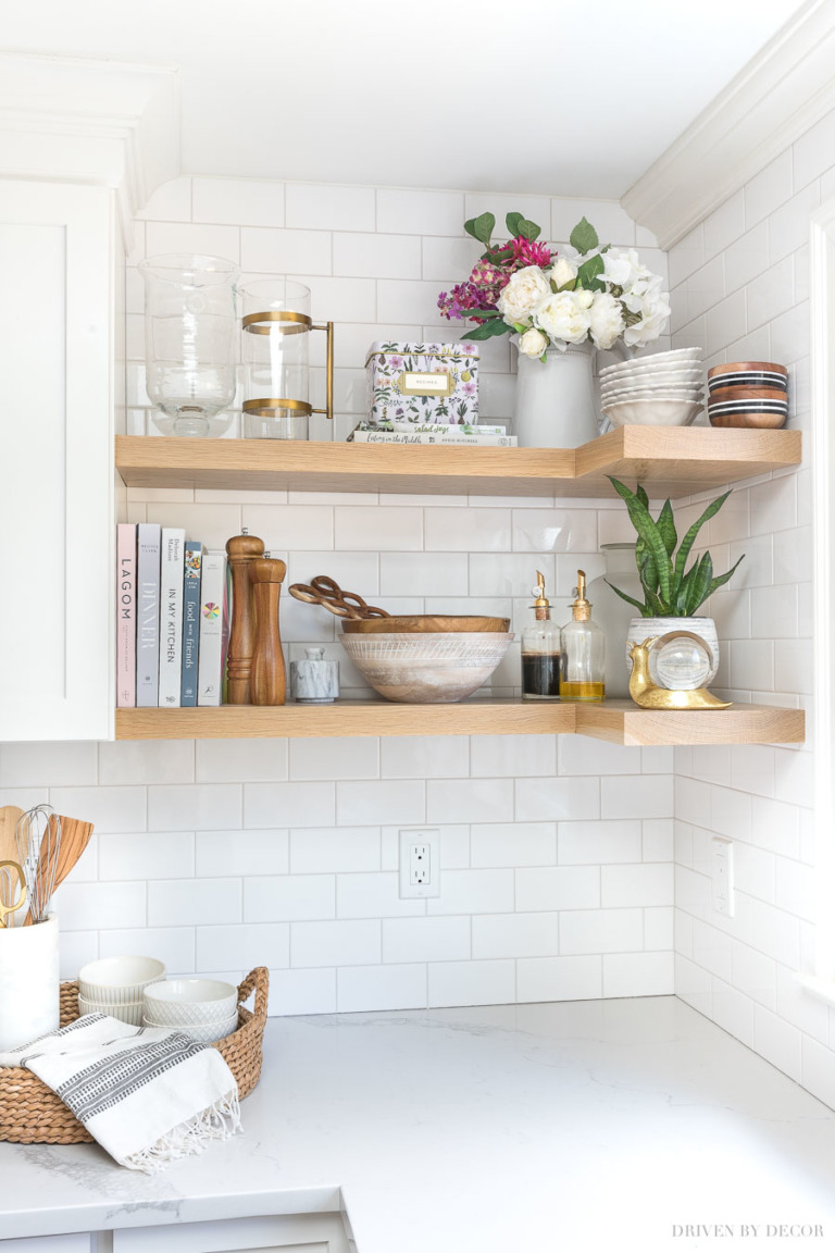 HOW TO BUILD AND INSTALL OPEN SHELVING