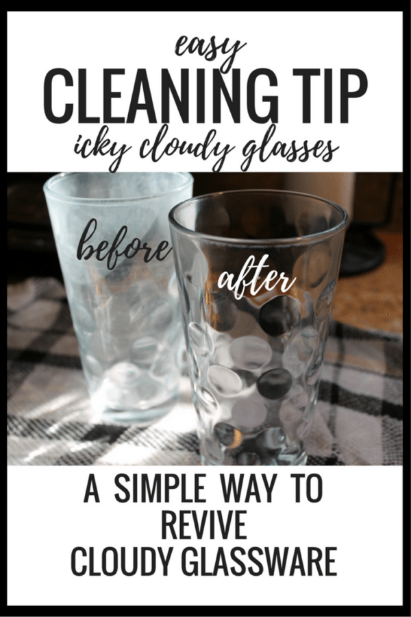 Life Hacks for Your Home - Cleaning Hacks - How to Clean Cloudy Glasses by The Vspot Blog