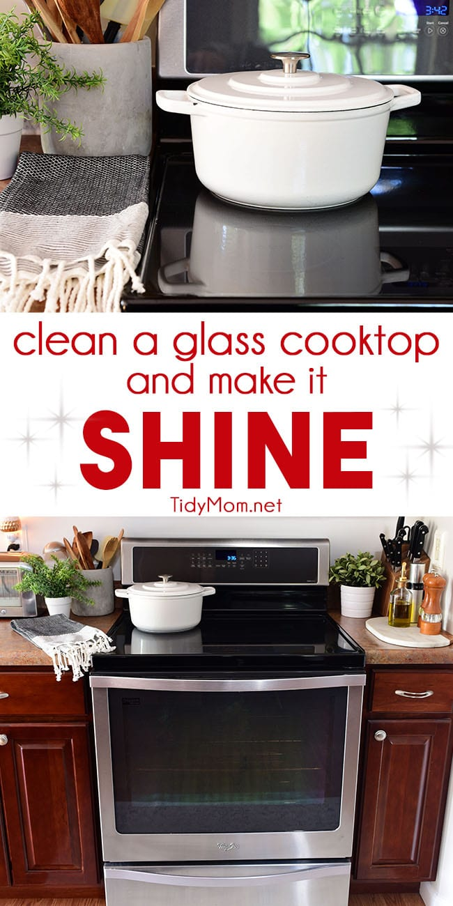 Life Hacks for Your Home - Cleaning Hacks - How to Clean a Glass Cooktop by Tidy Mom