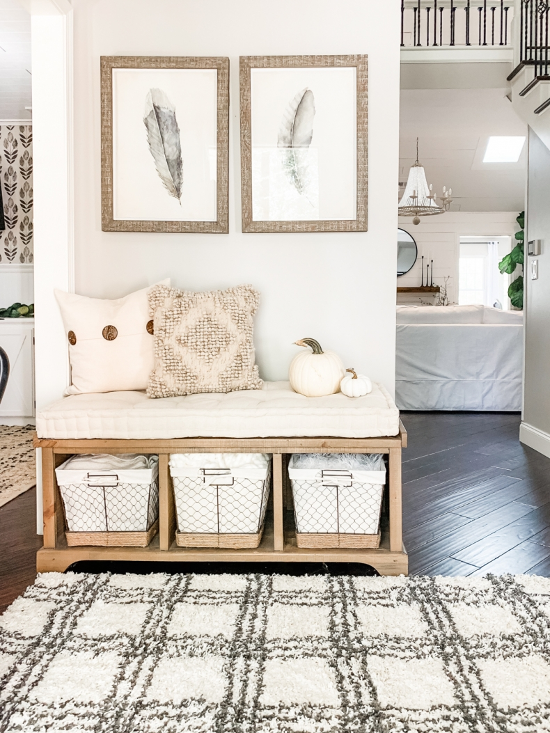 Ways to Declutter your Home with Baskets - Mudroom and Entryway Organization