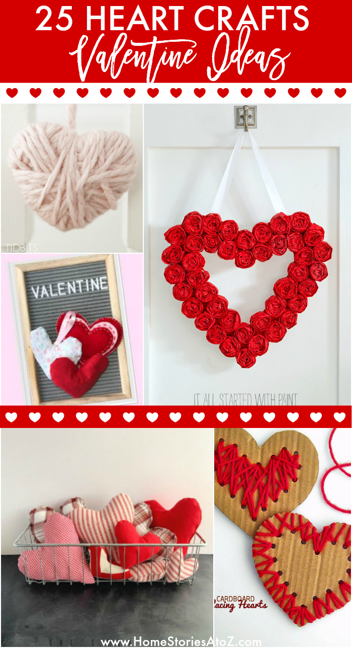 25 Heart Crafts For Valentine S Day Hearts Hearts And Hearts