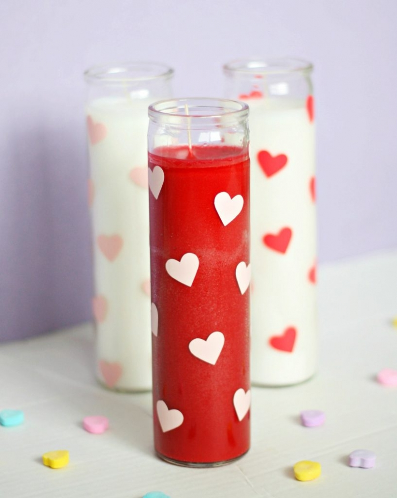 25 Valentine Heart Crafts - Heart Candles by Pretty Life Girls