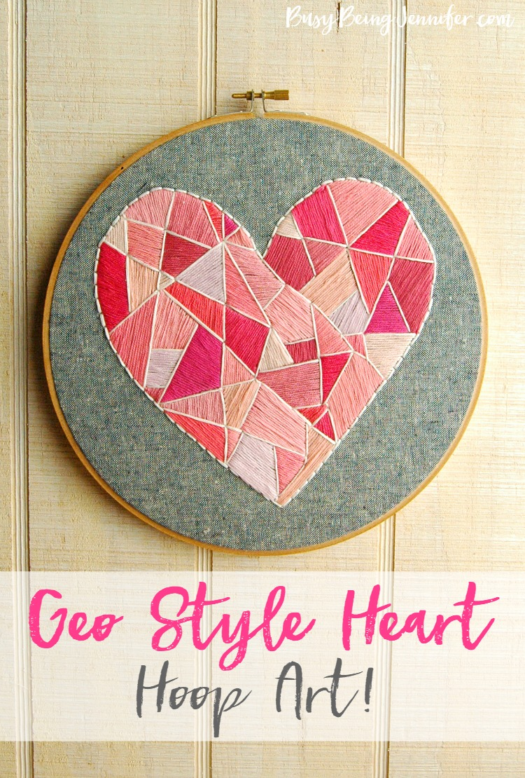 25 Valentine Heart Crafts - Heart Hoop Art by Busy Being Jennifer
