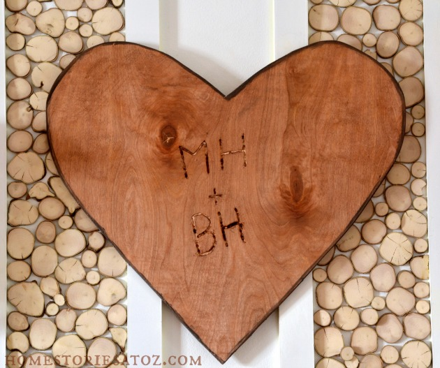 25 Valentine Heart Crafts - How to Make a Tree Carved Heart by Home Stories A to Z
