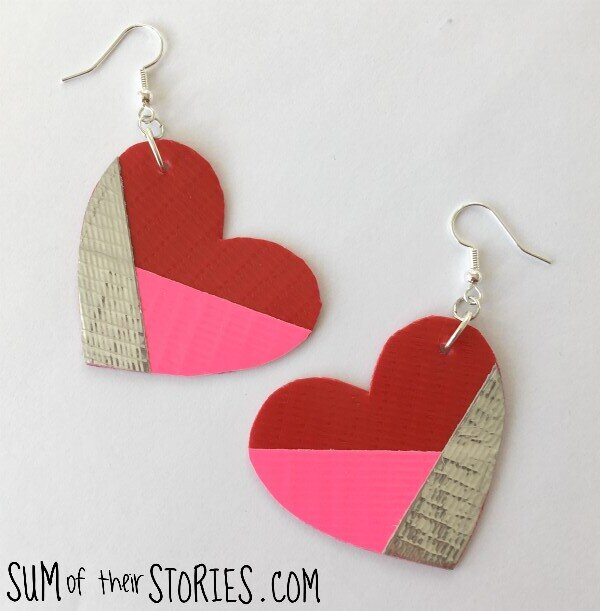 25 Valentine Heart Crafts - Valentine Duck Tape Jewelry by Sum of their Stories