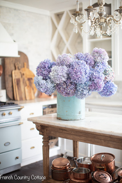 All About Hydrangeas - Arranging and Maintaining Hydrangeas by French Country Cottage
