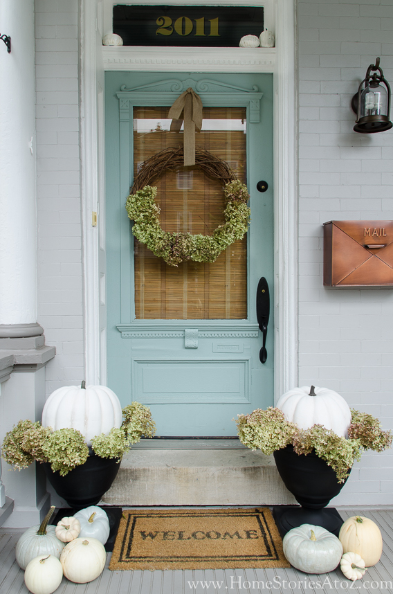 All About Hydrangeas - How to Make a Dried Hydrangea Wreath by Home Stories A to Z