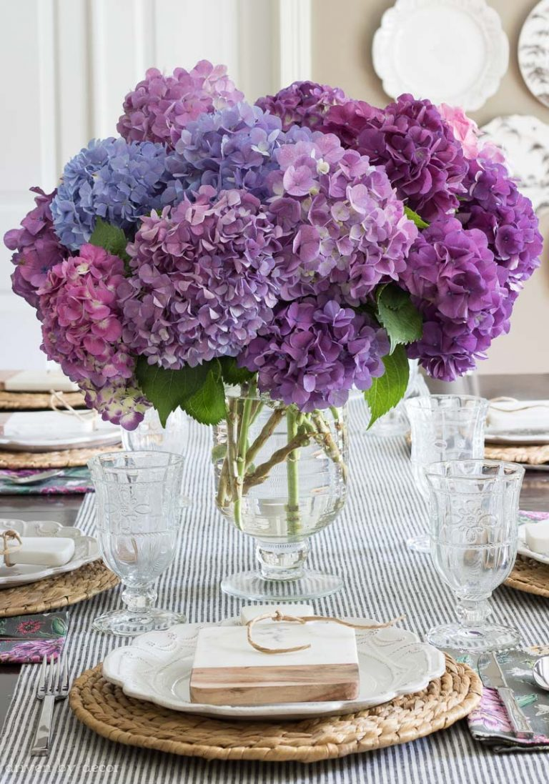 All About Hydrangeas - How to Revive a Wilted Hydrangea by Driven by Decor