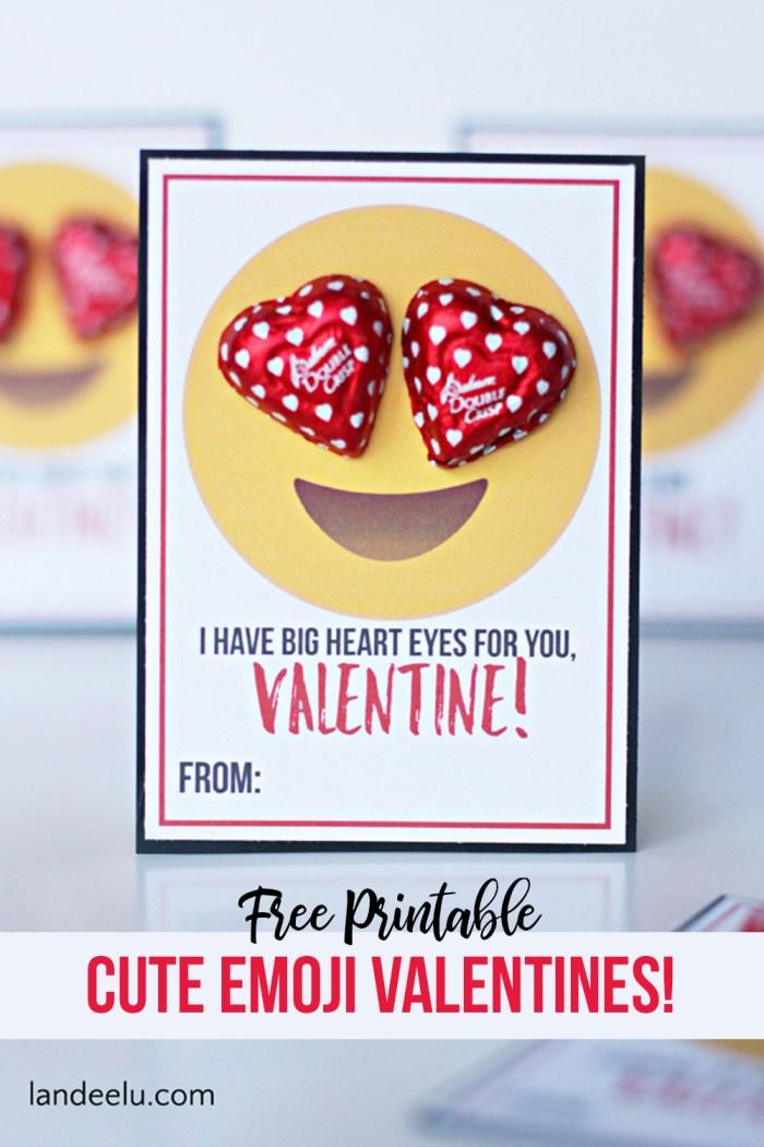 Valentine Printable Ideas - Emoji Valentine Printables by Landeelu