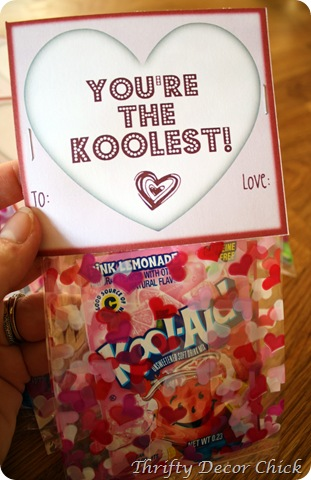Valentine Printable Ideas - Kool-Aid Valentine Printable by Thrifty Decor Chic