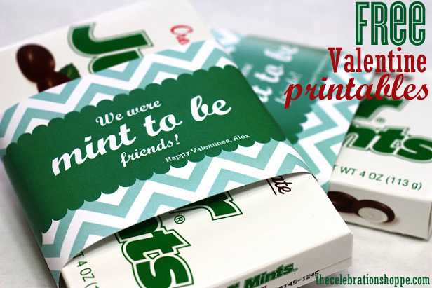 Valentine Printable Ideas - Mint to Be by The Celebration Shoppe