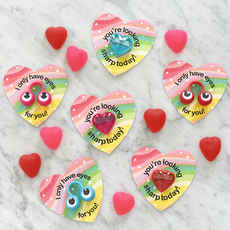 Valentine Printable Ideas - Non-candy Valentine's Printables by The DIY Mommy
