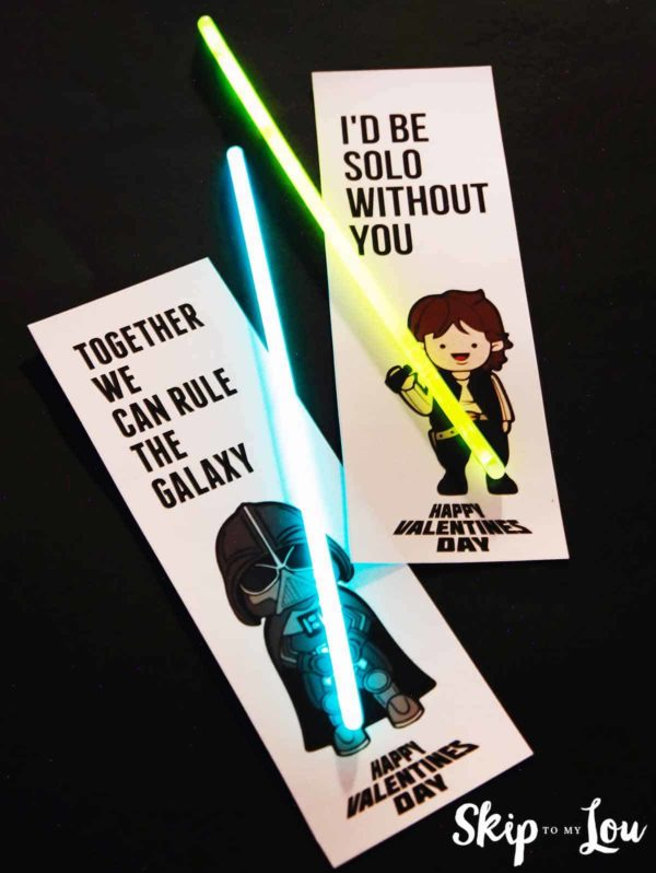 Valentine Printable Ideas - Star Wars Valentine's by Skip to My Lou