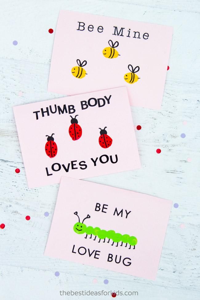 Valentine Printable Ideas - Thumbprint Valentine Craft by The Best Ideas for Kids