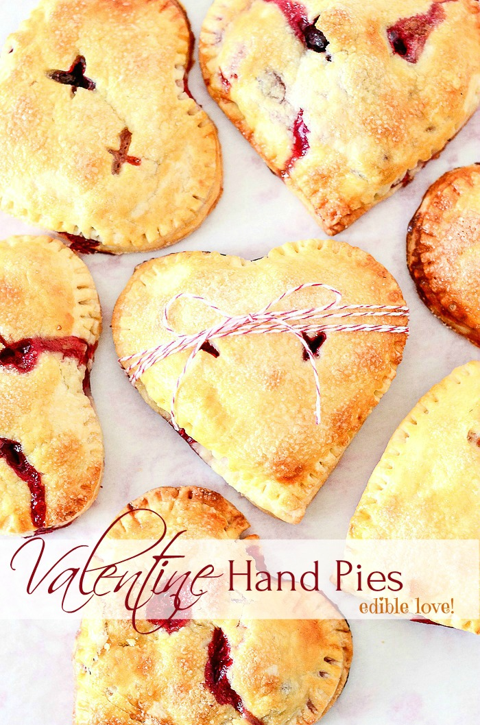 Valentine Treat Ideas - Valentine Hand Pies by Stonegable Blog